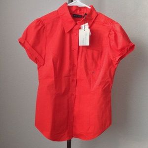 Women's Short Sleeve, Button Down Blouse